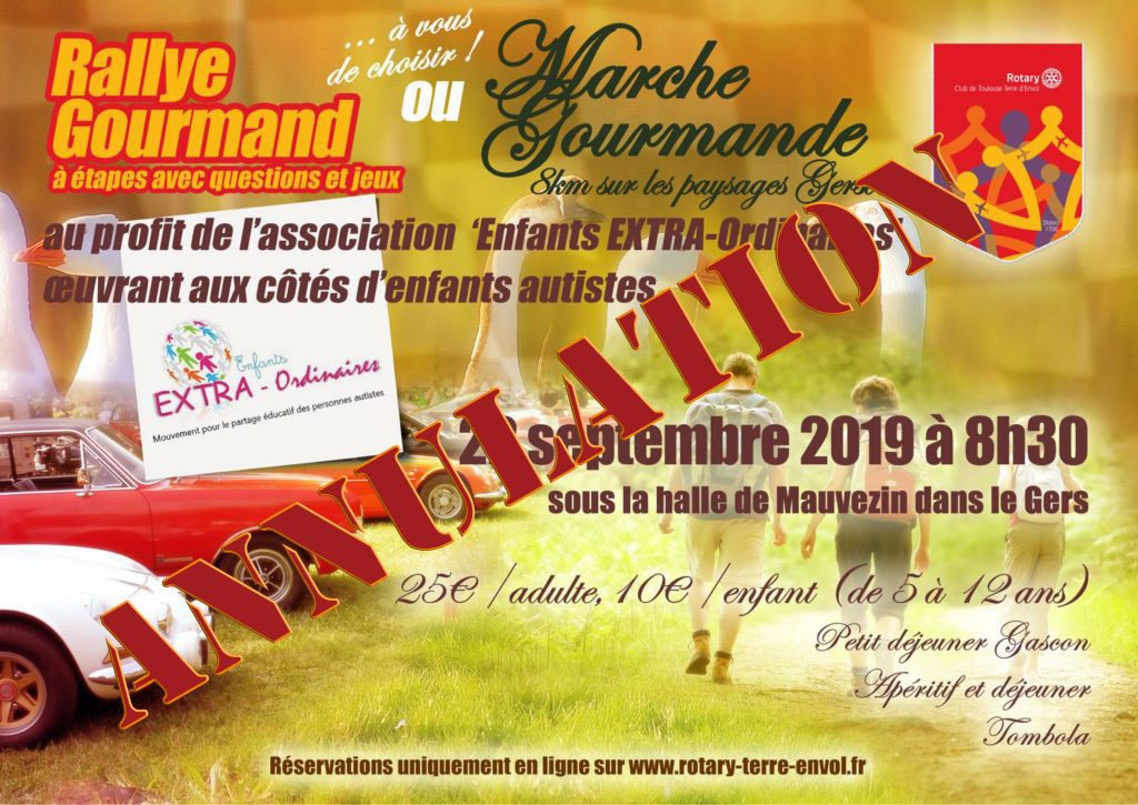 Annulation rallye gourmand